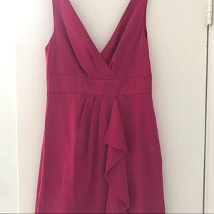 Banana Republic mini dress. Bright pink. Petite 4
